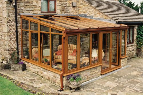 Timber Effect Conservatory
