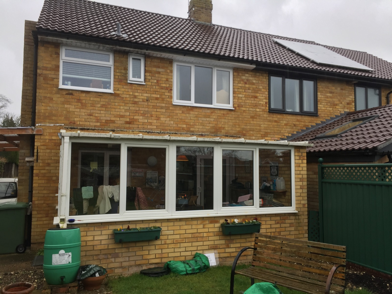 BEFORE Glass Conservatory Roof Installation Hampshire
