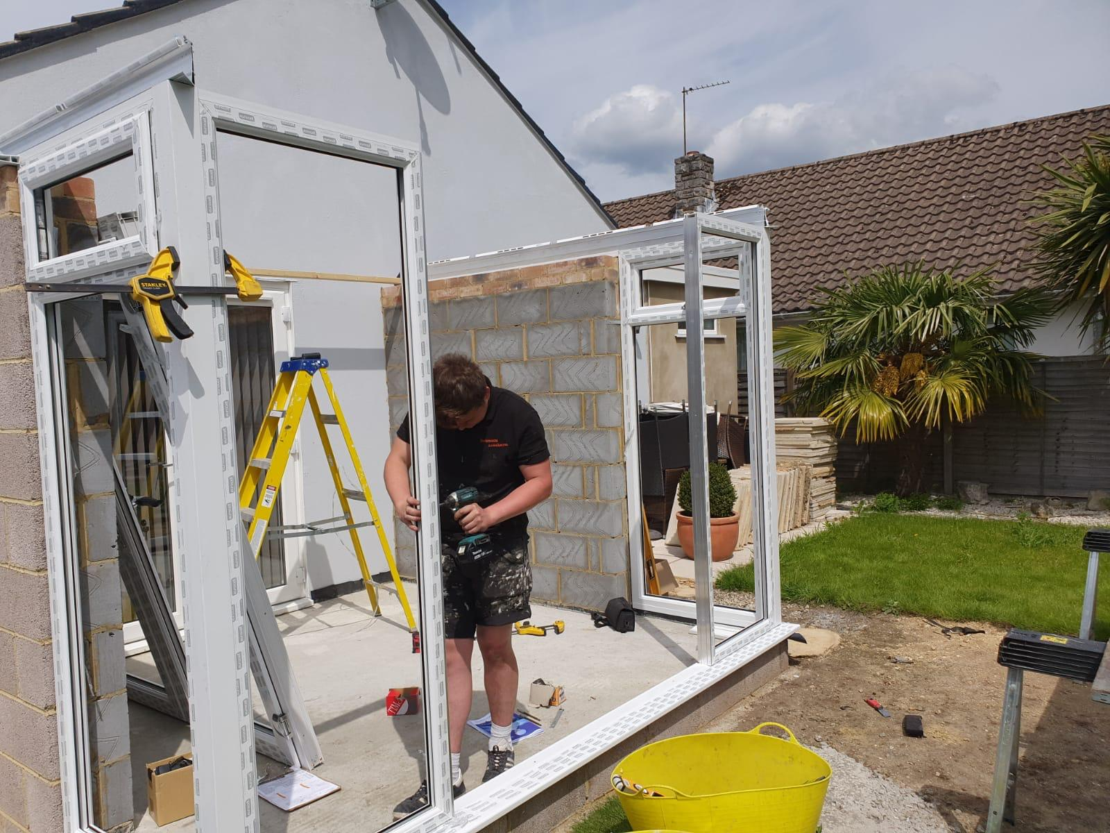 Gable End Conservatory Installation Ferndown